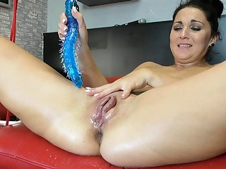 Squirting latina fisting and toying will not hear of pussy