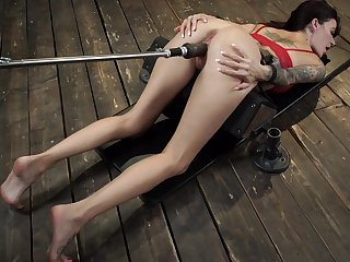 Rough fucking machine solo display by Gia Dimarco
