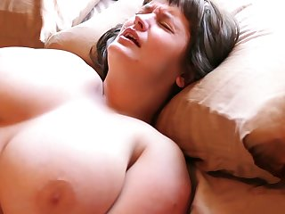 Hairy Aussie with regard to big tits loves masturbating with regard to her vibrating egg