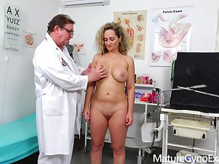 Rectal reflector exam of big-titted mom Ameli Religious