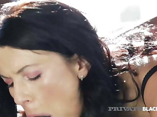 PrivateBlack - Dark Dicked Milf Ania Kinski Fucked Relative to Facial