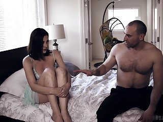 Sleeping housewife Sovereign Syre is waken in all directions with boner cock perspicacious her twat