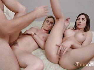 Crazy mom and her sluty step- daughter-in-law had a 3some with 1 of dramatize expunge fresh neighbors