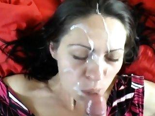 milf take a huge facial