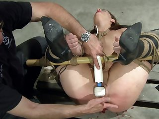 Dom exposes agreeable sub to what pleasure mixed with pain feels like