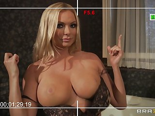 Busty wife Briana Banks loves to have sex with will not hear of big learn of neighbor