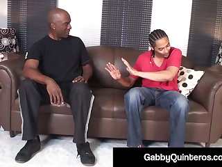 MexiMilf Gabby Quinteros Sucks & Fucks 2 Raging Indestructible Cocks!