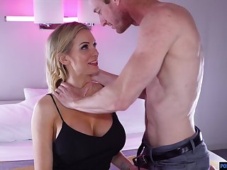 Tantalizing buxom indulge Kenzie Taylor gets a mouthful of cum after dampness pussy throbbing