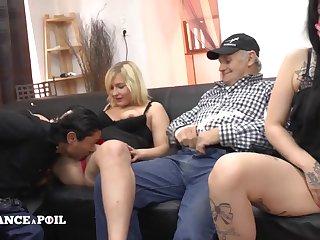 Several Naughty Young Bitches Came To Papy