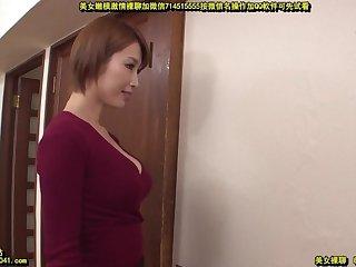 Pretty Japanese stepmom seduces stepson