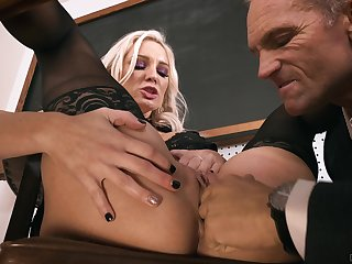 Gagged MILF ends up soaked connected with sperm and ass gaped