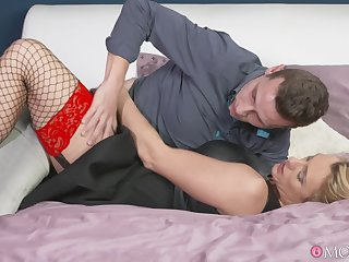 Charming Britanny Bardot in stockings and underthings fucked unending