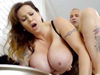 Tall Hungarian MILF with huge natural boobs loves to get fucked meetly