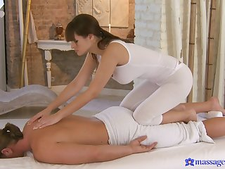 Soft anal flannel riding after this masseuse gets naughty