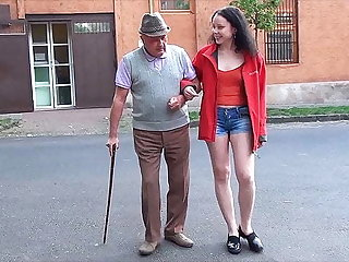 A happy day for grandpa with respect to a compacted dick