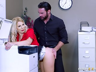 Gagged secretary is ready forth bend that ass over