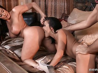 Our Son's Swain - threesome nigh young Adriana Chechik, mom Kendra Lust with an increment of Keiran Lee