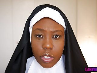 Black Ghoul Nun Slurps Cock For Cum Summoning Formality - Sexual congress Small screen Featuring Asia Drake