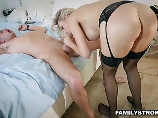 Big titted stepmom wants respecting there her stepson's hard cock for a test drive