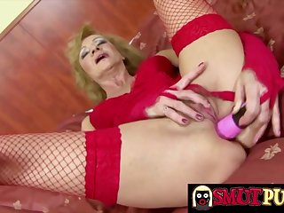 Horny mature sluts have a passion their assholes with thick dildos together with enjoying masturbation