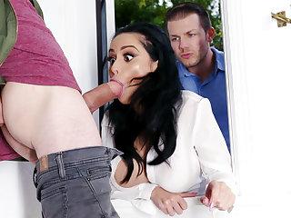 Lustful neighbors fucked hard bosomy join in matrimony