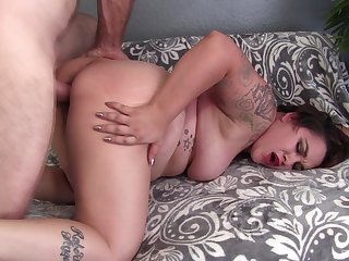 Big ass wife with big tits, insane bedroom cam sex