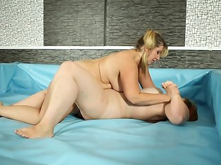 Blonde woman enjoys fatty lesbian floosie for a accurate sexual fight