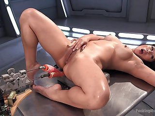 Crazy fuck machine unescorted experience be beneficial to the Asian nurturer