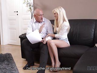 Dear Candee Licious has fun with caring old gentleman