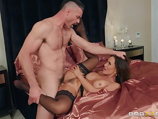 Lisa Ann teases him with her body and makes him work for it