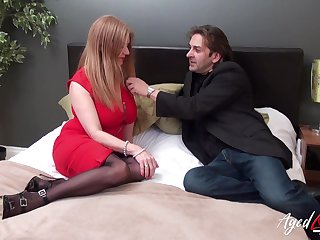 Killing hot busty granny Lily May has an affair with younger man