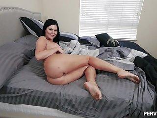 Big ass brunette gets strenuous in classic POV scenes