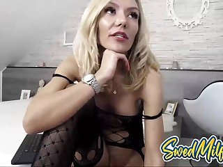 Swedish Mommy Rubs Coochie and Moans on Cam