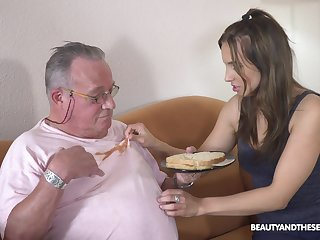 Older supplicant got lucky and banged hot natural tits Azure Angel