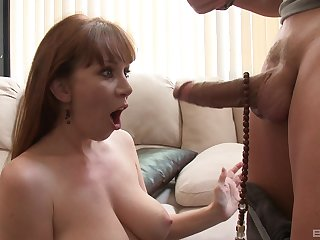 MILF gets their way hands on a whacking big dick and she's addicted already